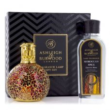 Ashleigh & Burwood Fragrance Lamp Gift Set -  Tahitian Sunset & Moroccan Spice Lamp Oil
